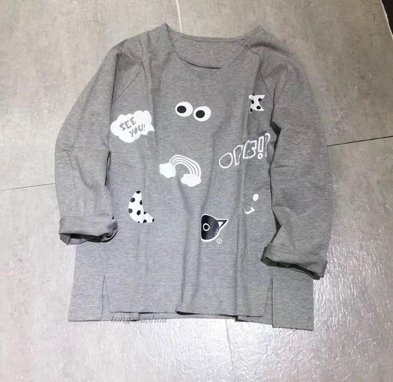 2018秋季カットソーの全綿プリントの女性用カーディガンファッションブランドCHOCOOLATE