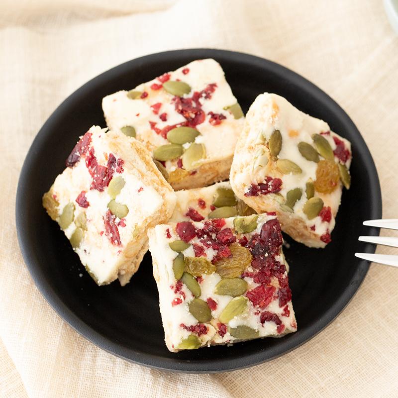 黄远堂雪花酥雪Q饼蔓越莓牛轧雪芙酥奶芙牛轧酥牛轧糖网红零食