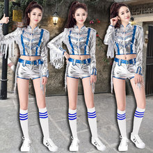 Annual jazz dance performance clothing female college students sexy modern dance performance hip hop Sequin hip hop dance suit