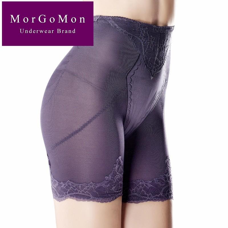 MORGOMON Custom Mid-Eo Body Sculpting Quần Phụ nữ sau sinh Định hình Giảm béo Bụng Nâng Quần lót DL1009 - Quần cơ thể