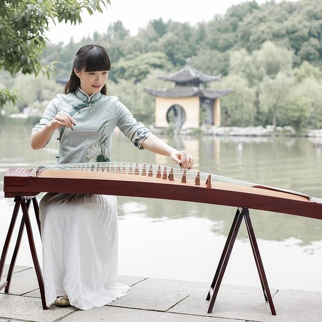 【旗舰店】雅润古筝 黑檀素面古筝考级10级专业演奏级初学古筝 黑
