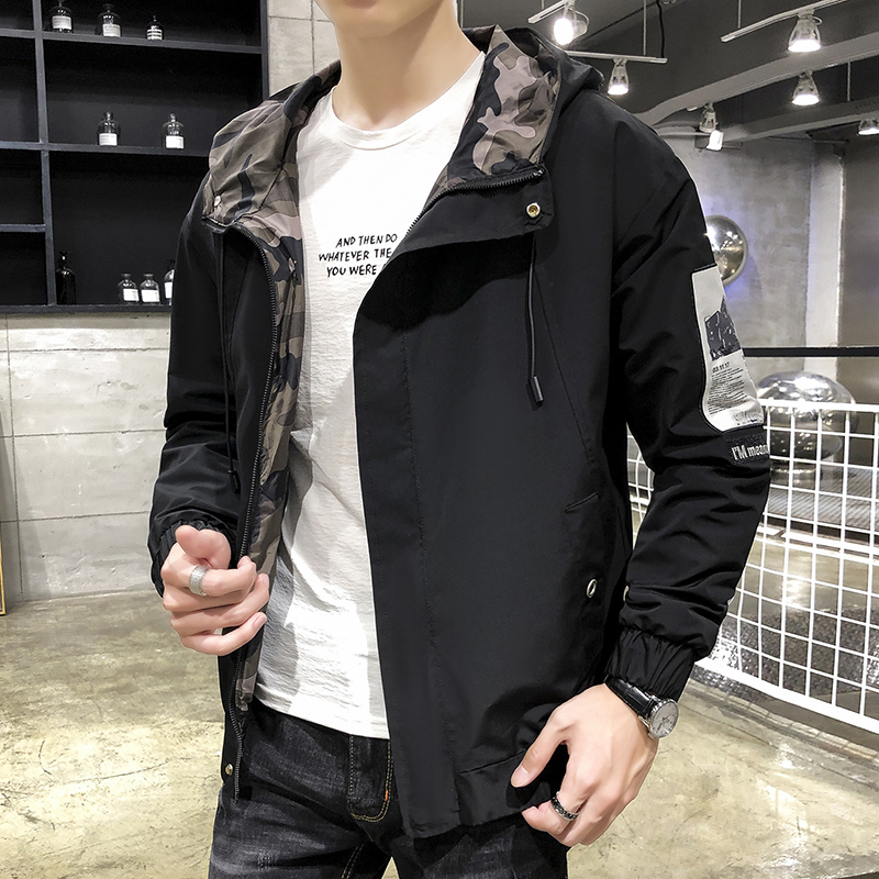 Spring and autumn 2019 new camouflage coat mens Korean fashion cool charging clothes fashion mens jacket