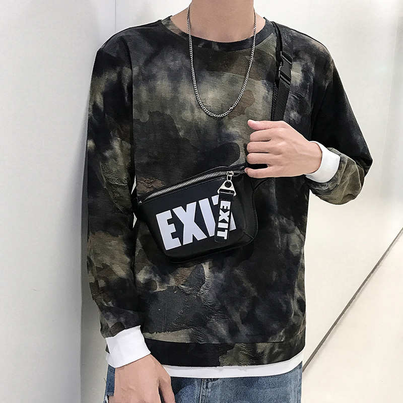 Mens long sleeve T-shirt autumn clothes 2019 new camouflage autumn fashion bottom coat mens sweater