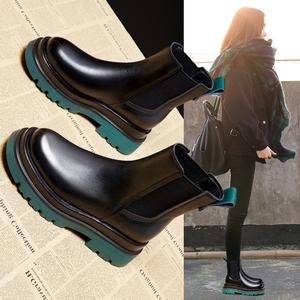 马丁靴女鞋2021年新款烟筒靴子秋季棉鞋爆款切尔西短靴秋冬季加绒