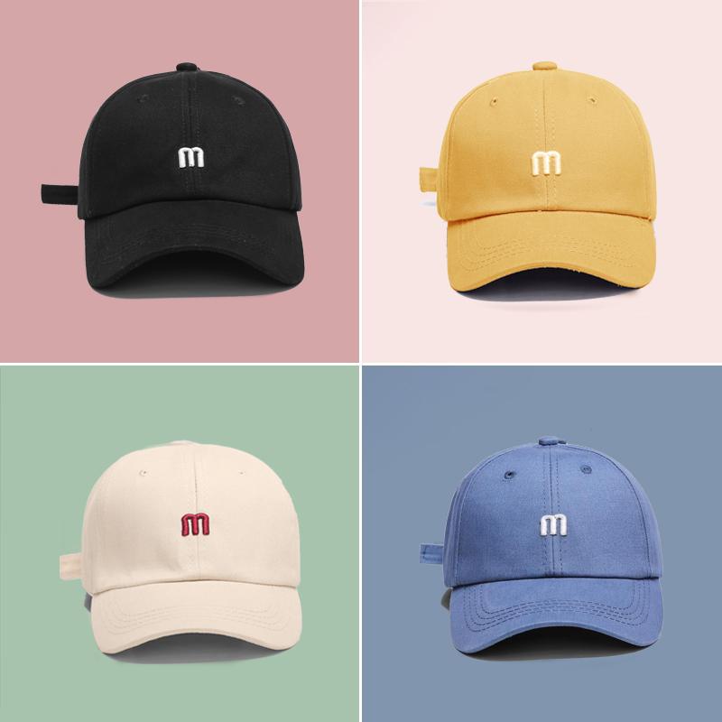 Peaked cap shade summer sunscreen sun baseball cap children's hat girls middle-aged boy boy letter hat thin