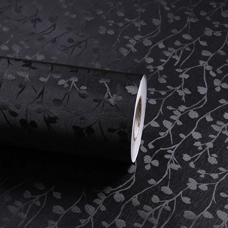 自粘背胶黑色不透光 遮光贴纸窗户玻璃贴膜隔热防晒不透明玻璃纸