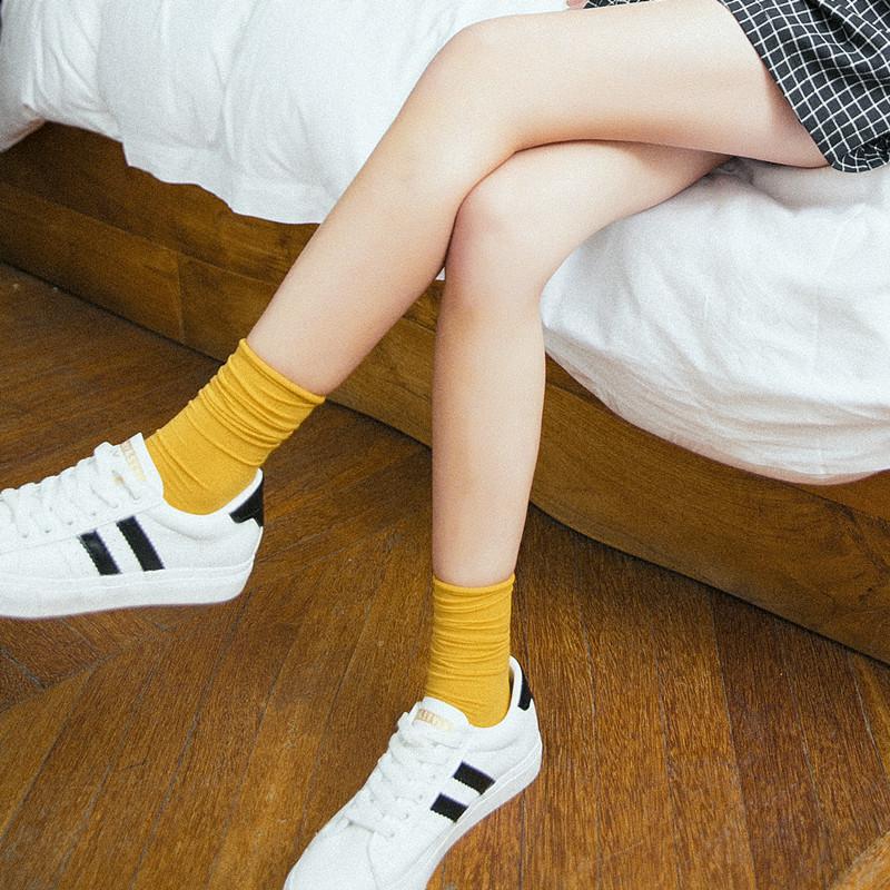 满45.00元可用28.1元优惠券4双装夏季天鹅绒韩国可爱堆堆袜