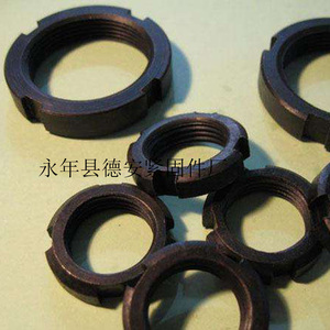 厂家直销 GB812国标圆螺母 开槽圆螺母 圆形精密锁紧螺母M60X2