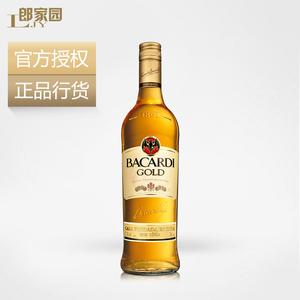 郎家园进口洋酒Bacardi Gold Rum百加得金朗姆酒烘培调酒基酒烈酒