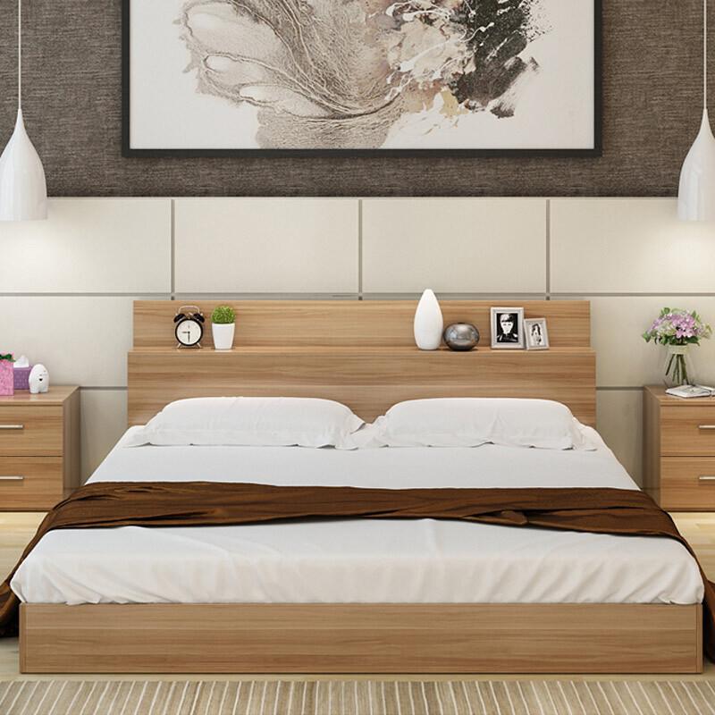 板式床宿舍床快捷酒店大床公寓标间全套组合出租屋单双人民宿床