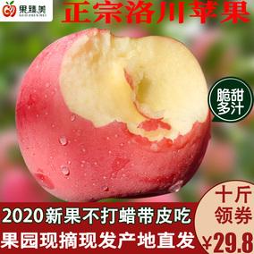 陕西洛川新鲜红富士应当季10斤整箱