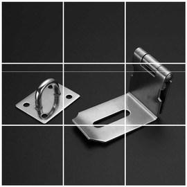 锁牌加厚不锈钢门搭扣挂锁抽屉锁门锁扣柜子房门直角移门90度锁扣