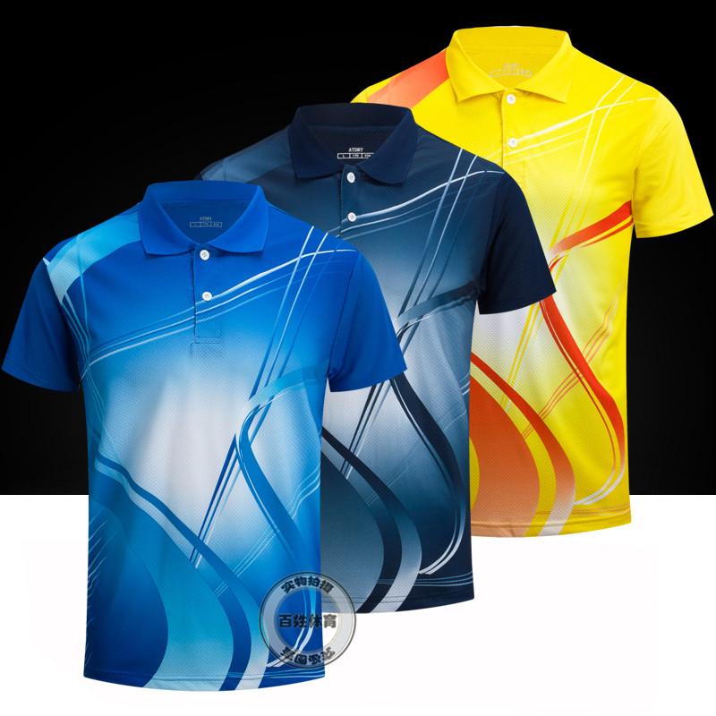 2017 новые товары настольный теннис одежда мужской и женщины установите большой двор воздухопроницаемый движение одежда короткий рукав быстросохнущие пот бадминтон одежда