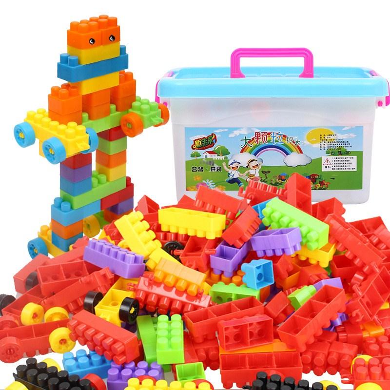 盖楼游戏幼儿女孩男宝宝组装搭积木儿童玩具益智织木可拆卸拼装