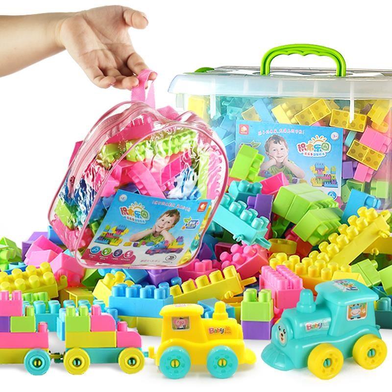 盖楼游戏青少年益智玩具拼装积木塑料原木叠叠儿童玩具高建筑堆积