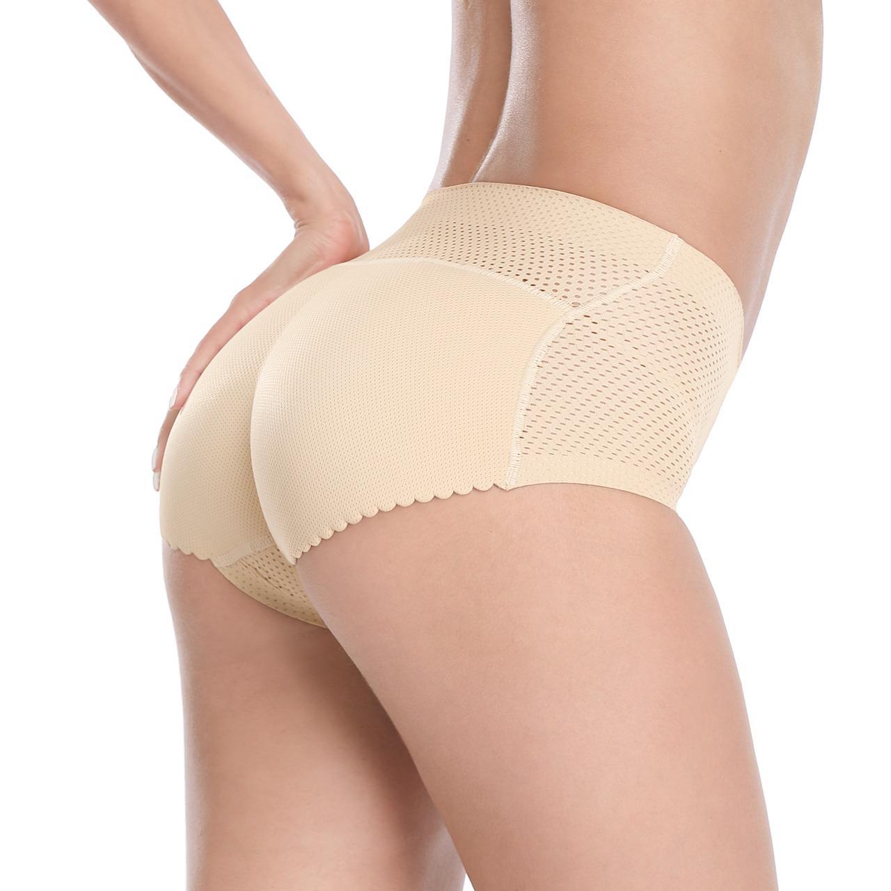 丁字裤内裤丰臀裤肤色蜜桃臀臀垫翘臀性感无痕女士提臀薄款夏季蕾