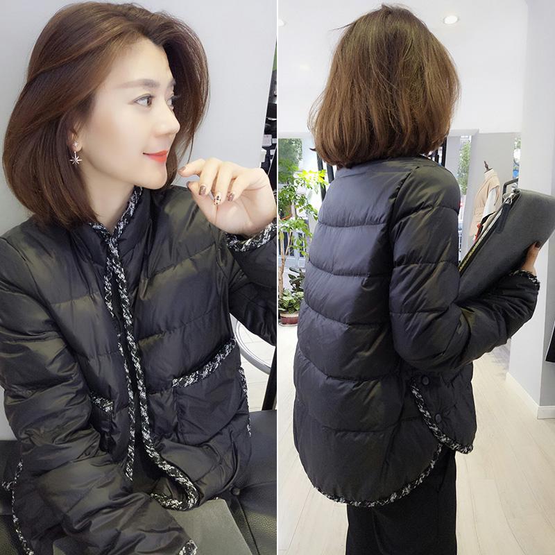 欧洲站羽绒服女2020新款冬装时尚欧货黑色短款小个子鸭绒加厚外套