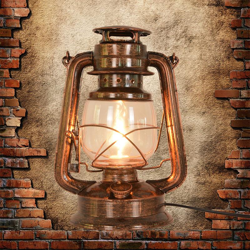 复古老式上海滩卧室怀旧调光马灯酒吧网红装饰创意台灯煤油灯