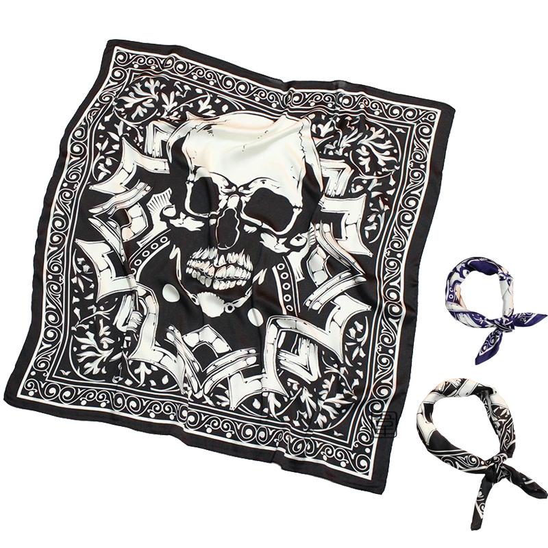 Новый человек солдат синий черный череп шарф шарфы приток мужчин дикий малый квадрат тонкая модель костюм шарф англия вырез полотенце