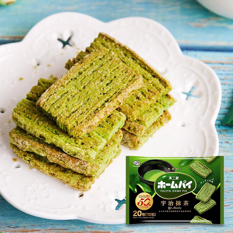日本进口 不二家小麦京都宇治抹茶味酥性饼干抹茶控网红零食104g