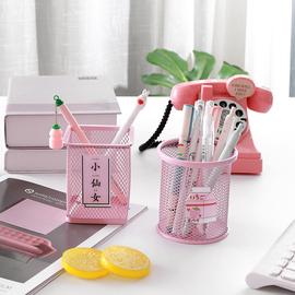 韩国创意少女卡通小清新学生文具笔筒桌面整理储物盒化妆刷收纳筒图片