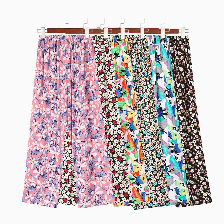 Summer new thin womens silk cartoon home anti mosquito air conditioning artificial cotton sleeping leisure silk pants