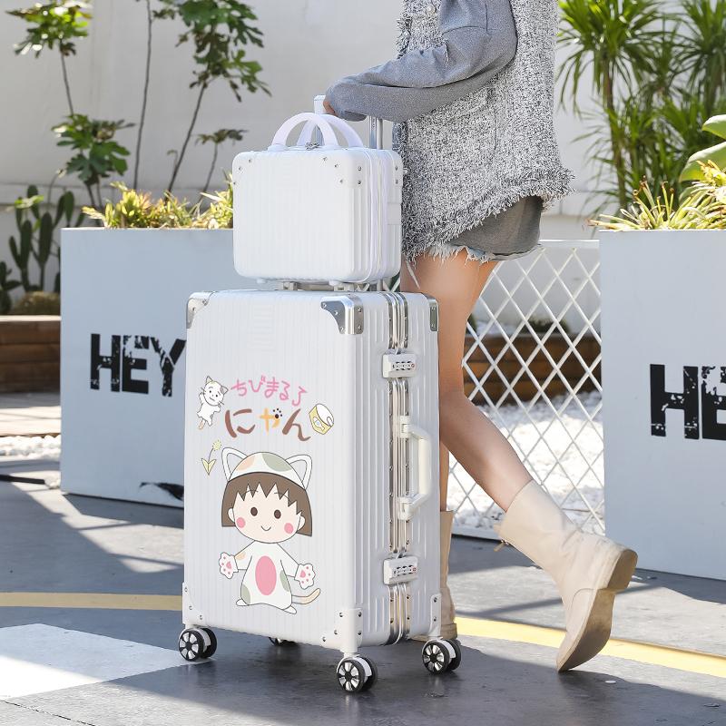 行李箱女日系20寸小型登机拉杆箱2021年新款密码皮箱子男结实耐用