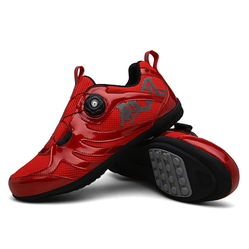 Cycling shoes cycling shoes road mountain cycling shoes lovers men and women leisure assistance hard sole lockless cycling shoes