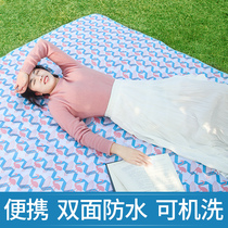 Picnic blanket picnic cloth outdoor portable waterproof Lawn Park Picnic moistureproof picnic mats thickens ins wind