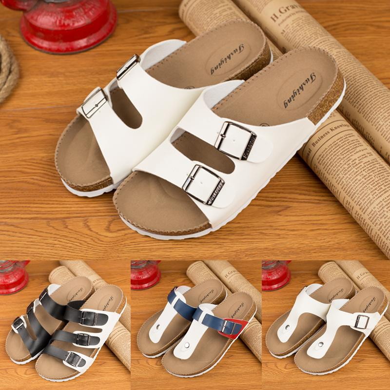 Couples Cork slippers men wear soft bottom beach sandals in summer
