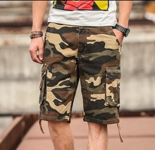 2019Men Large size summer beach pants male camouflage shorts