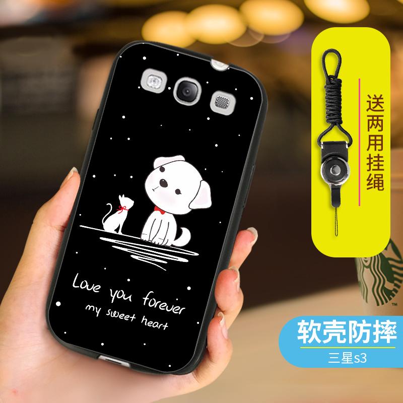 三星S3手机壳gt-i9308保护套193001软硅胶19308挂绳gti9300i卡通