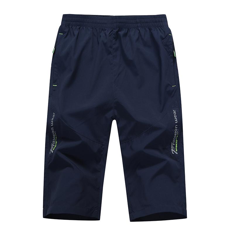 男士健身七分裤深口袋休闲超薄中裤宽松裤衩夏天学生卫裤拉链口袋