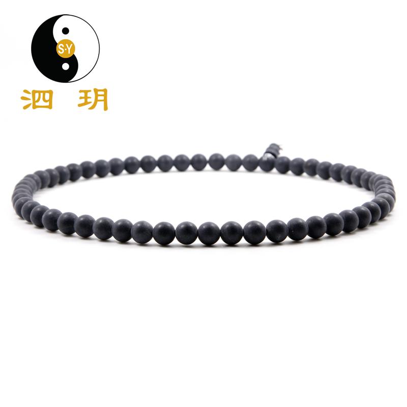 泗玥 泗滨砭石项链 情侣男女士手链礼物 5A精品 时尚砭石饰品