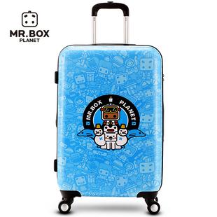 寸万向轮旅行箱20张小盒拉杆箱行李箱南极徽章卡通动漫密码箱皮箱