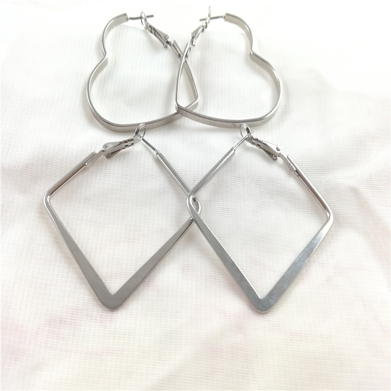 Fashion minimalist exaggeration personality geometry earrings and Earrings