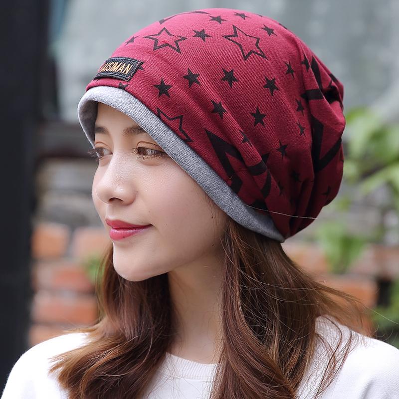 秋冬月子帽套头化疗薄光头头巾