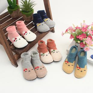 慈拓秋冬室内地板袜防滑软底袜鞋