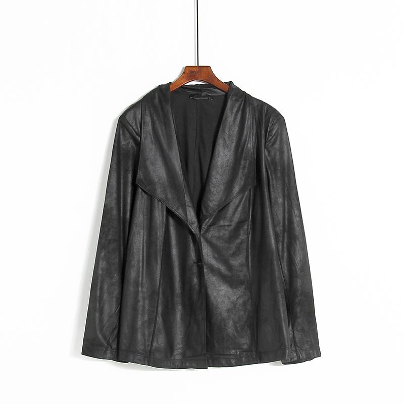春秋薄款女装  上衣七分袖显瘦休闲外套  纯色中长款内扣小外套F2
