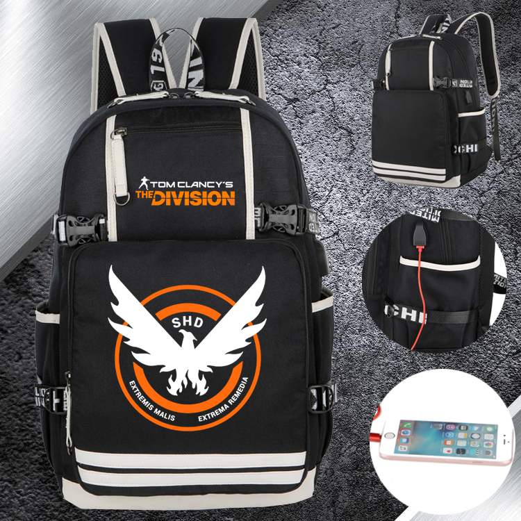 College and middle school students backpack and postal blockade 2 backpack professional icon Tom Clancy customized