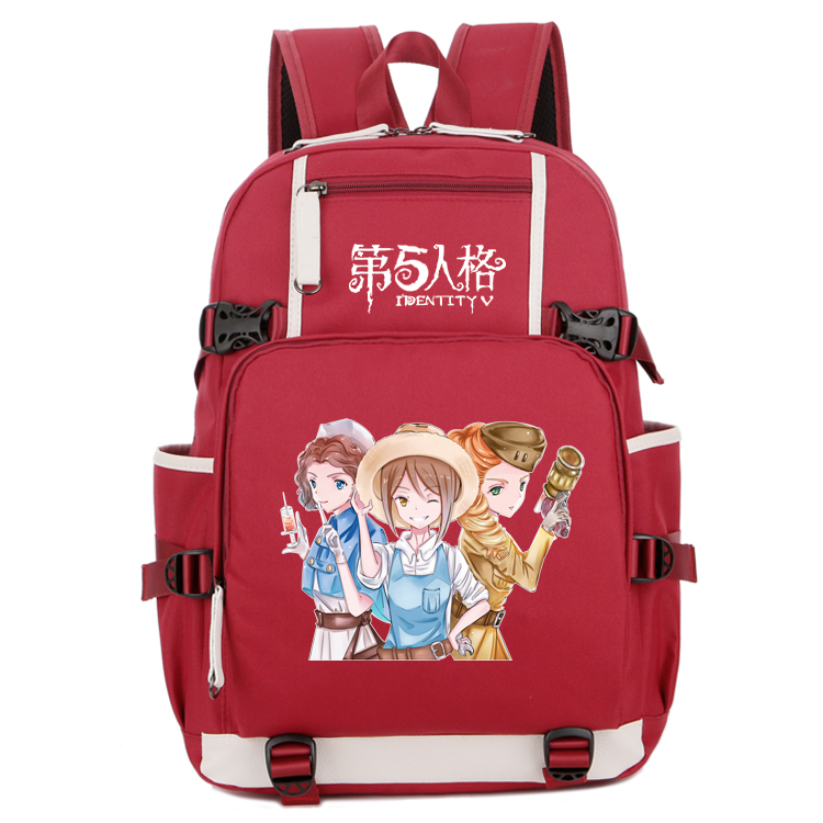Two dimensional couple cartoon book package mail fifth personality gardener Jack priest mechanic doctor Backpack