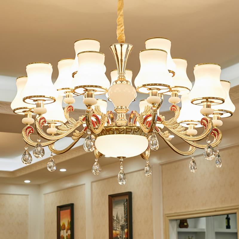 欧式水晶吊灯客厅2020新款餐厅家用现代简约卧室创意灯饰大气灯具