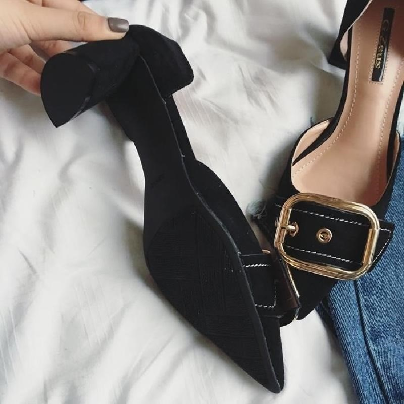 High heels female spring of 2018 the new female shoes han