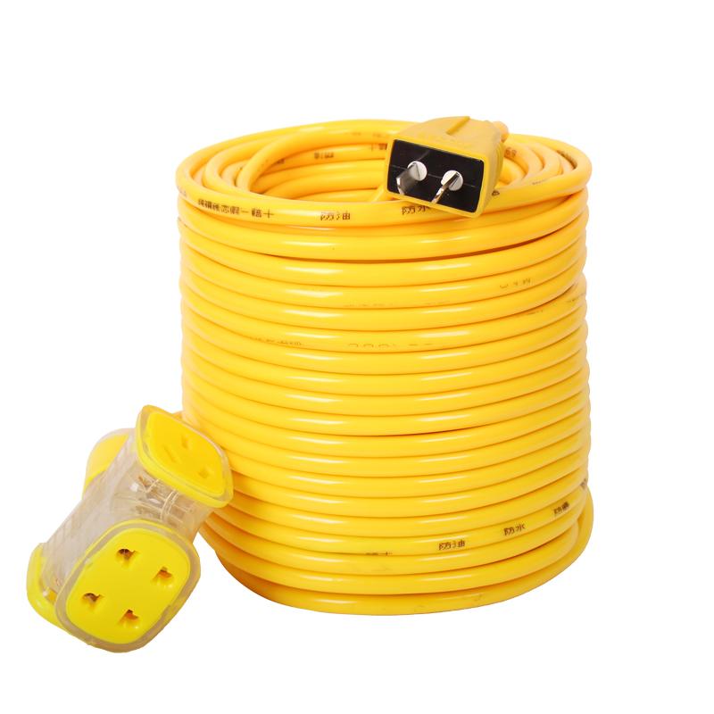 电线软线电缆线2芯护套户外铜芯电源线1.5/2.5/4平方家用插头带线