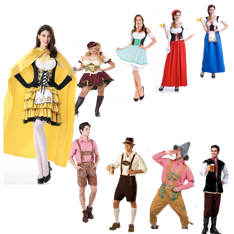 German Beer Festival Costume Halloween couple beer suit Carnival Party bar DS dress maid maid dress