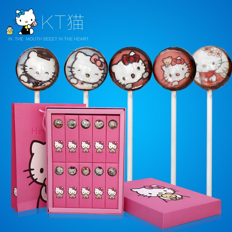 Американская звезда леденец аутентичные Hello Kitty Cat конфеты послал свою подругу Валентина подарок коробки подарка