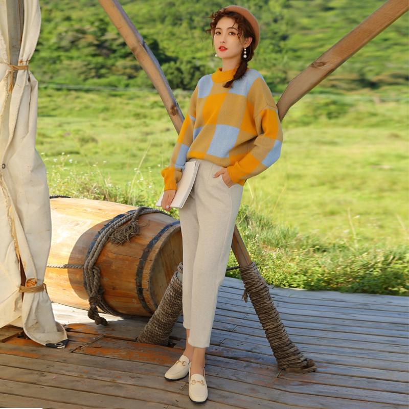 秋季2019新款学院风套装韩版小清新网红时尚洋气减龄裤装两件套潮券后148.00元