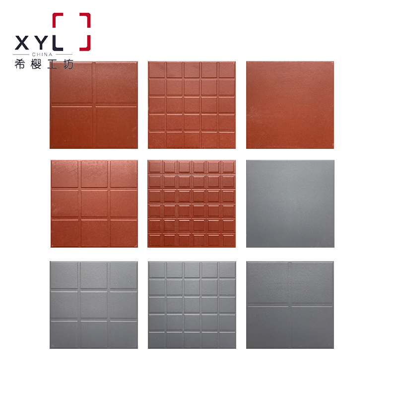 红缸砖酒店厨房专用吸水砖灰色防潮瓷砖户外车库超市防滑地砖300