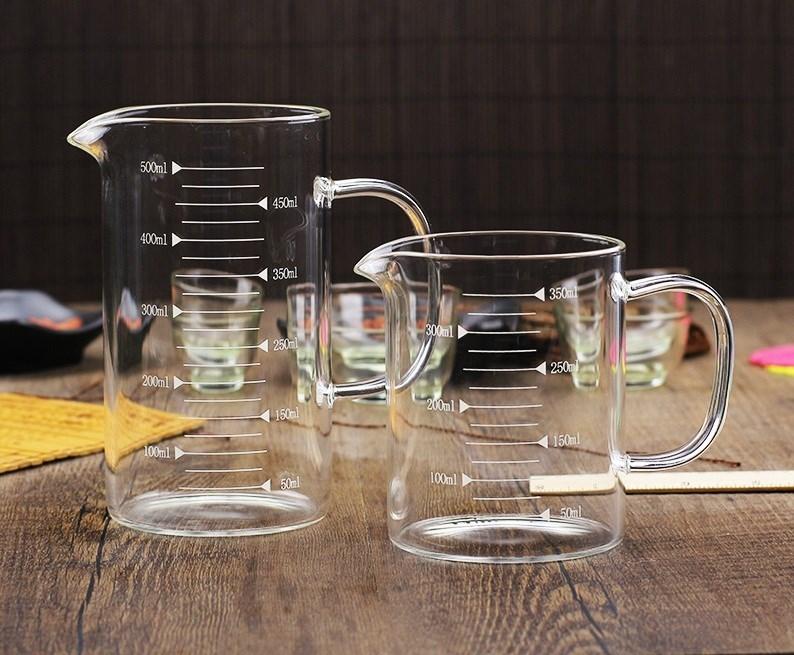 手柄带大米量杯厨房料理容量带刻量杯带刻度玻璃刻度计量烧杯小号