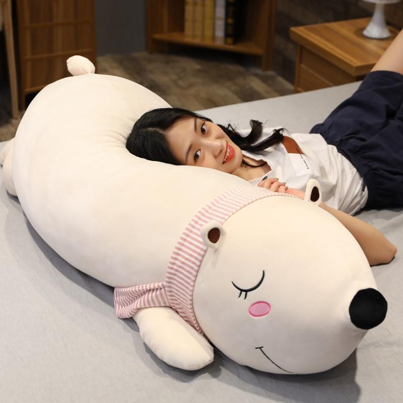 可爱北极熊毛绒玩具抱抱熊公仔大布娃娃玩偶女生睡觉抱枕儿童礼物